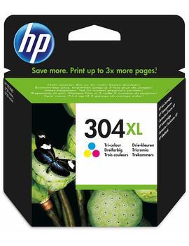 Hewlett Packard 304 Xl Tri Colour Original, Cartucho De Tóner Adecuado Para Dj3720, Multicolor (Amarillo, Magenta, Cian) by Hp