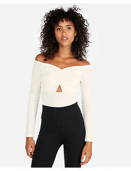 Petite Ruched Off The Shoulder Bodysuit by Express