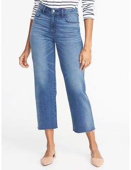 High Rise Wide Leg Cropped Jeans For Women by Old Navy