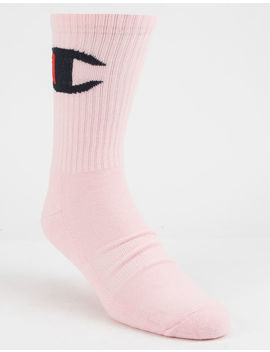 Champion Big C Pink Mens Crew Socks by Champion