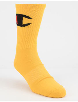 Champion Big C Yellow Mens Crew Socks by Champion