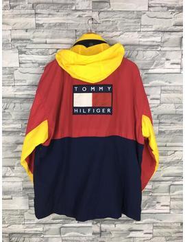 Tommy Hilfiger Veste X Large Vintage 90 ' S Sportswear Tommy Colorblock Sweat à Capuche Tommy Athletic Trainer Multicolore Veste Parka Taille Xl by Repeatfashionstore