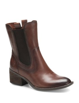 Tennys Chelsea Leather Block Heel Boots by Born