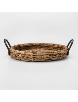 Woven Seagrass Round Tray Light Beige   Threshold™ by Shop Collections