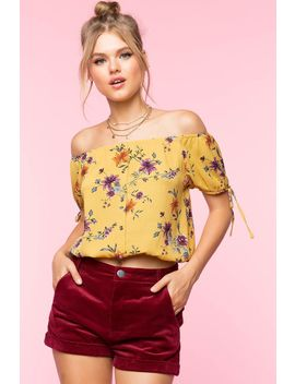 Leila Floral Off Shoulder Top by A'gaci