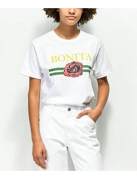 Viva La Bonita La Rosa Bonita White T Shirt by Viva La Bonita