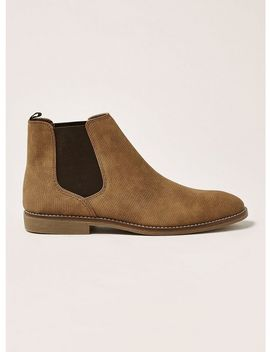 Tan Faux Suede Spark Chelsea Boots by Topman
