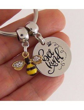 Bee Kind Quote Keychain, Be Kind Quote Key Chain, Bee Nice, Motivational Quotes, Inspirational Quote Keyring, Personalized Quote Keychain by Quote To Live By