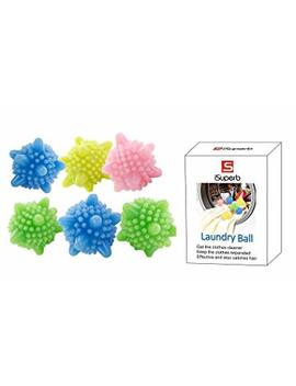I Superb Solid Colorful Laundry Ball Washing Ball, Set Of 6 (Type 2) by I Superb