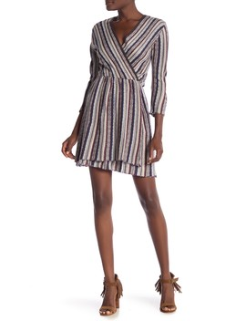 Striped Knit Sweater Dress by Angie