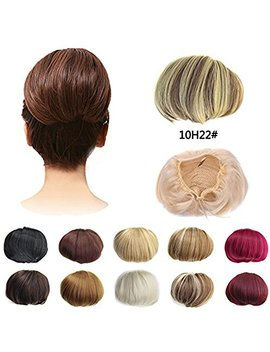 Chignon Messy Smooth Straight Short Clip In Hair Bun Hairpiece Scrunchie Ponytail Hair Extensions Wig Hair Bun Extensions by Hi Girl