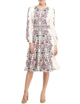 Chloe Floral Border Print A Line Dress by Gal Meets Glam Collection