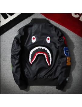 Japan Zip Aape Jacket Men Bape Shark Head Ma1 Army Flight Bomber Coat Camouflage by Bape