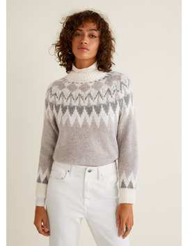 Knitted Pattern Sweater by Mango