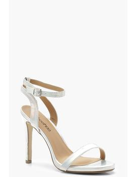 Wide Fit Iridescent Two Part Heels by Boohoo