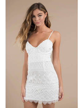 Can't Hold Us White Lace Bodycon Dress by Tobi