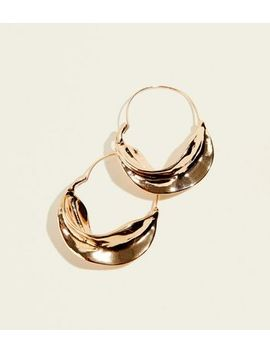 Gold Swirl Hoop Earrings by New Look
