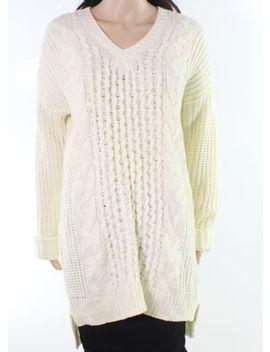 John + Jenn New White Ivory Women's Size Medium M Knit V Neck Sweater $44 571 by Ebay Seller