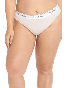 Modern Cotton Blend Thong by Calvin Klein