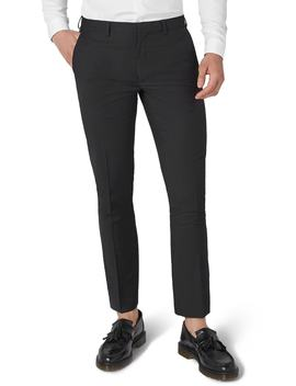 Black Skinny Fit Trousers by Topman