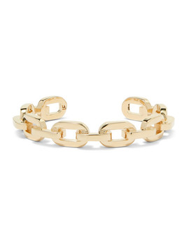 Chain Link Gold Plated Cuff by Jennifer Fisher