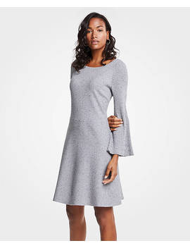 Pleated Flare Sleeve Sweater Dress by Ann Taylor
