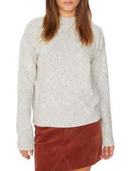 Jasper Button Detail Mock Neck Sweater by Sanctuary