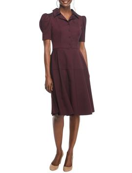 Nina Twill Fit & Flare Dress by Gal Meets Glam Collection