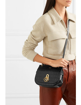 Amberley Small Croc Effect Leather Shoulder Bag by Mulberry