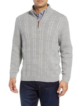 Tenorio Cable Knit Zip Sweater by Tommy Bahama