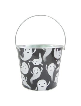 Halloween Ghost Large Round Tin Bucket   Hyde And Eek! Boutique™ by Hyde And Eek! Boutique™