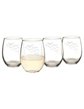 Halloween Bat Stemless Wine Glasses   4ct by Cathy's Concepts