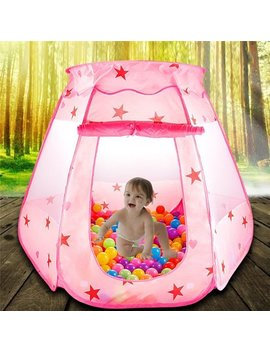 Eecoo Folding Princess Ball Pit Tent For Girls Indoor And Outdoor 1 To 8 Years Old Toys, Children Game Pop Up Play Castle Tent by Eecoo