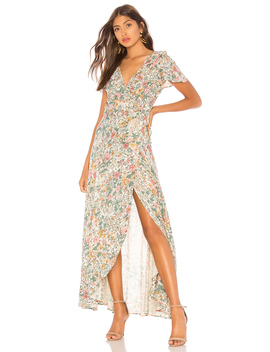 Spring Rose Wrap Maxi Dress by Auguste