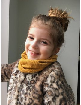 Baby / Toddler Snood / Mustard Yellow Infinity Style Scarf / Kids Snood / Childs Infinity Style Scarf / Wool Look Snood by Blousiesboutique