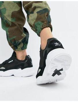 Черно белые кроссовки Adidas Originals Falcon by Asos