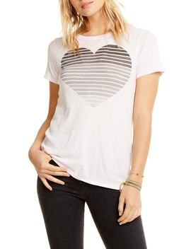 Stripe Heart Tee by Chaser