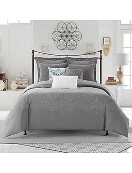 Anthology™ Scarlet European Pillow Sham In Grey by Bed Bath And Beyond
