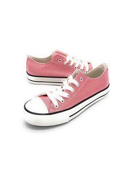 Easy21 Women Canvas Lace Up Shoe Fashion Casual Comfort Sneakers by Blue Berry