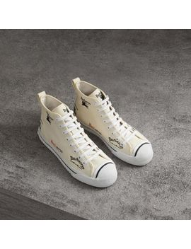 Archive Logo Cotton High Top Sneakers by Burberry