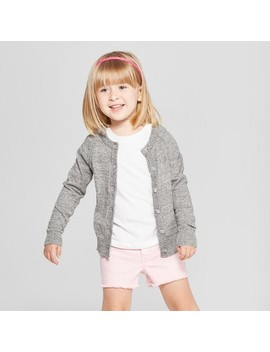 Toddler Girls' Cardigan   Cat & Jack™ Charcoal Heather by Cat & Jack™
