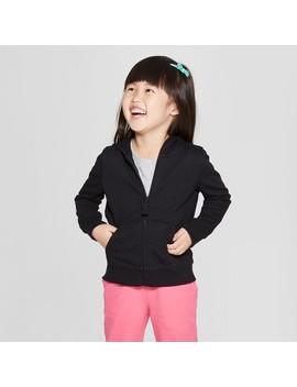 Toddler Girls' Hoodie Sweatshirt   Cat & Jack™ Black by Cat & Jack™