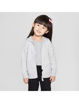 Toddler Girls' Hoodie Sweatshirt   Cat & Jack™ Gray by Cat & Jack™