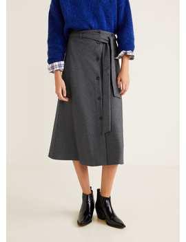 Flight Buttons Skirt by Mango