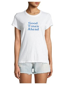 Good Times Short Sleeve Graphic Tee by Rag & Bone/Jean