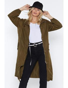 Singing In The Rain Longline Parka by Nasty Gal