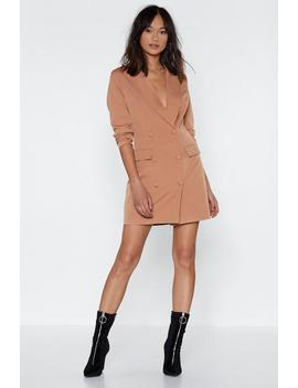 I'm Busy Blazer Dress by Nasty Gal