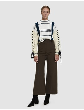Contrast Cable Knit Sweater by Carven