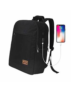 Laptop Backpack, Business Computer Bag Waterproof Travel Backpack College School Bookbag For Men Women With Usb Charging Port Fits 17 Inch Laptop & Notebook Large Capacity Backpacks By Beyle (Black) by Beyle