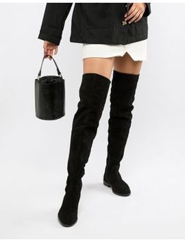 Asos Design Kerria Suede Over The Knee Boots by Asos Design